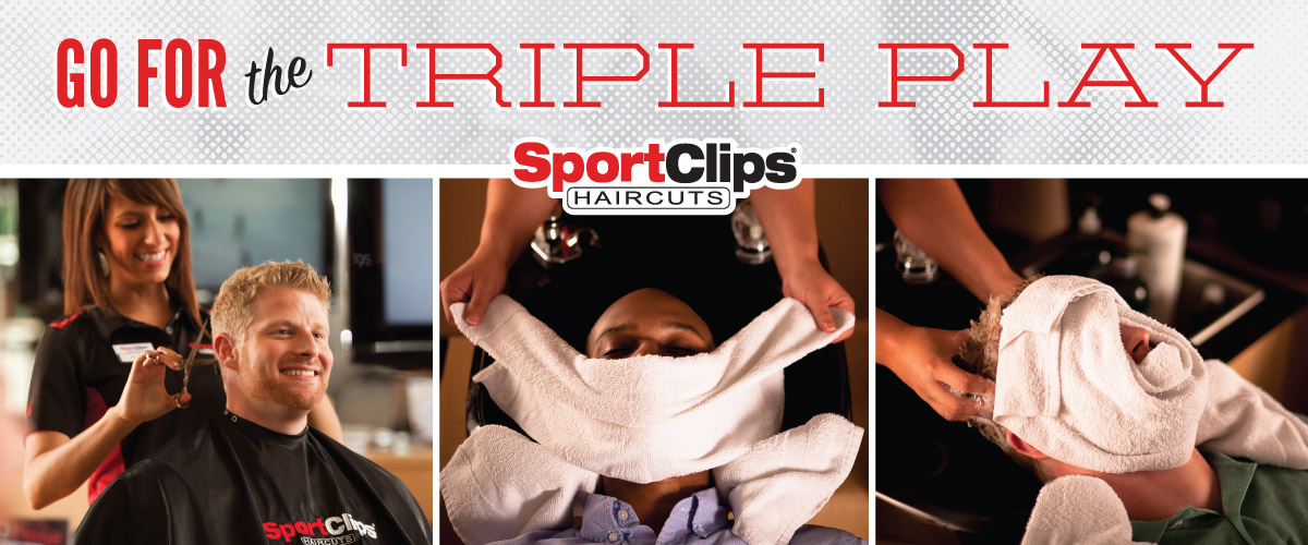 The Sport Clips Haircuts of North Hills Crossing Triple Play